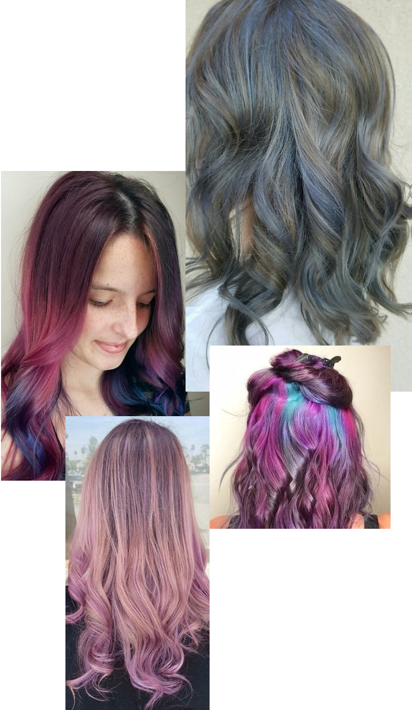 Creative Hair Color Temecula Silver Hair Color Rose Gold Hair